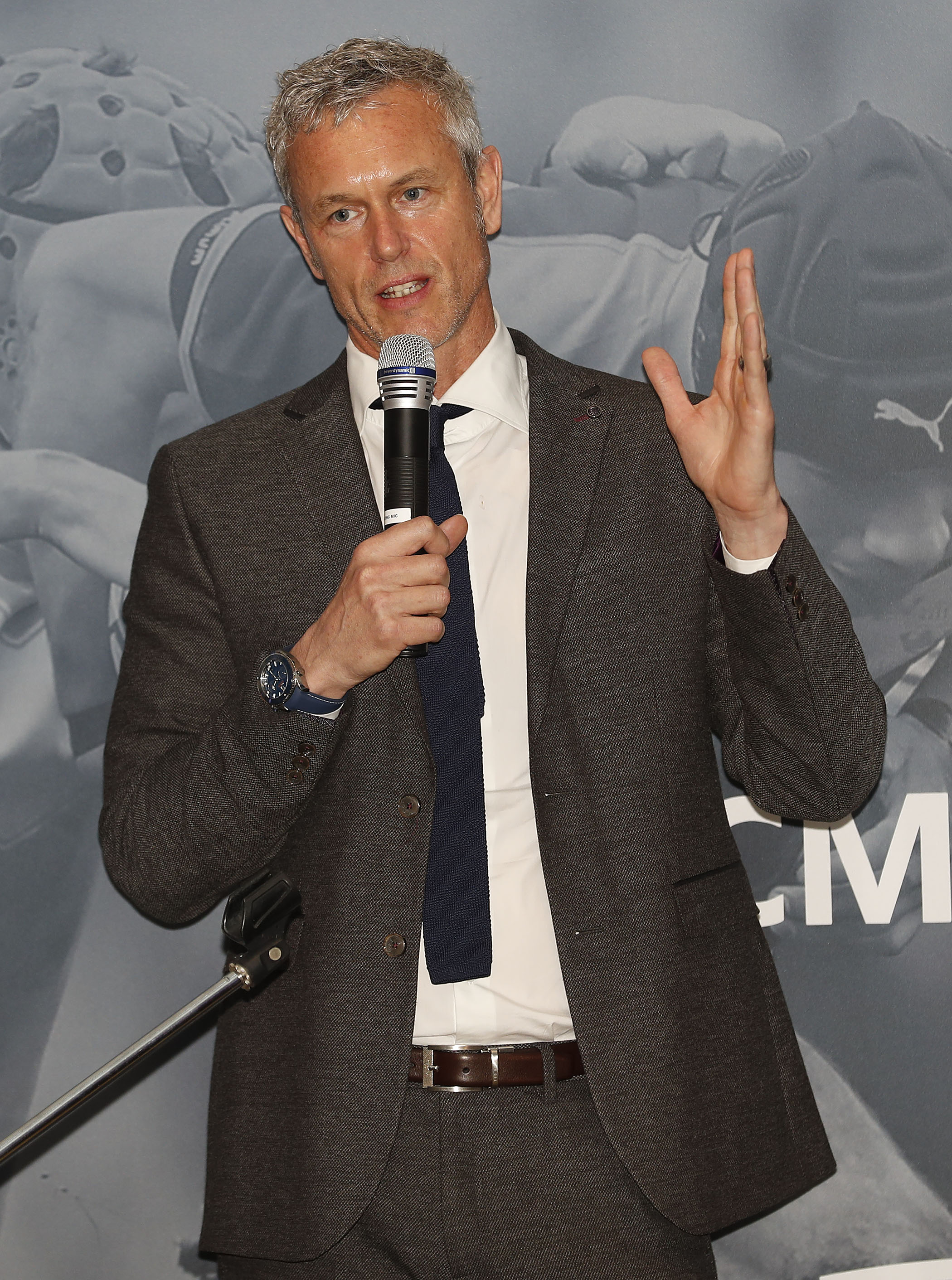 Mark Foster guest speaker during the RCMA Varsity Rugby League game between Cambridge University and Oxford University at the HAC Ground, Moorgate, London on Fri Mar 9, 2018
