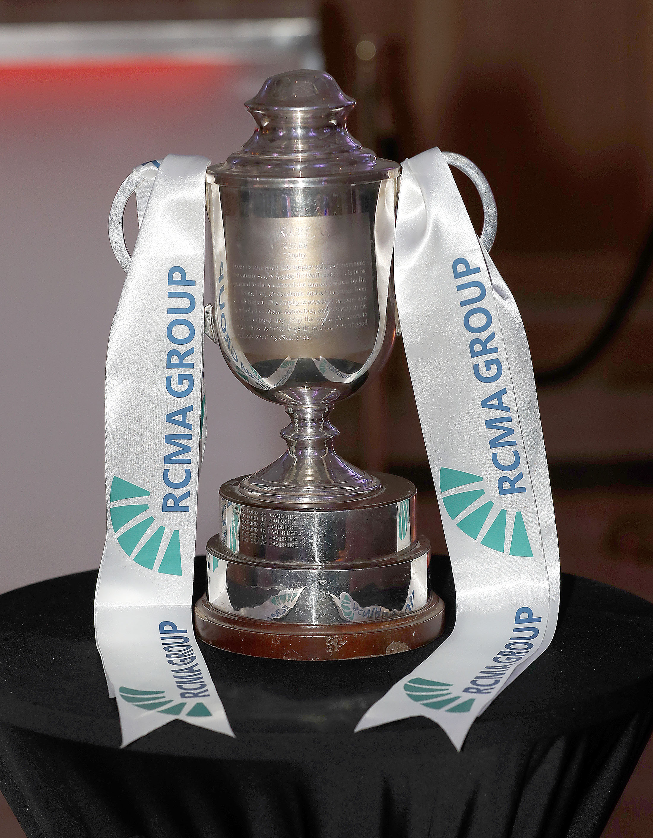 RCMA trophy during the RCMA Varsity Rugby League game between Cambridge University and Oxford University at the HAC Ground, Moorgate, London on Fri Mar 9, 2018