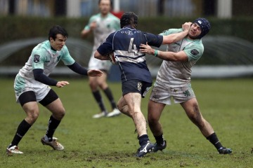 Action from the RCMA Varsity Rugby League game between Cambridge University and Oxford University at the HAC Ground, Moorgate, London on Fri Mar 9, 2018